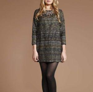 Shoshanna Ravenna Jacquard Jade Tunic Dress 12